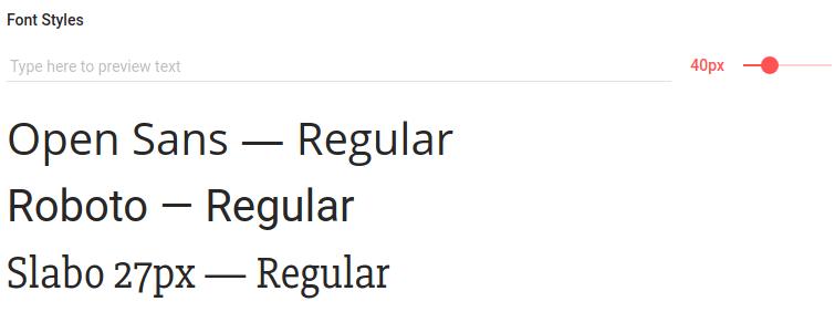Google fonts画面